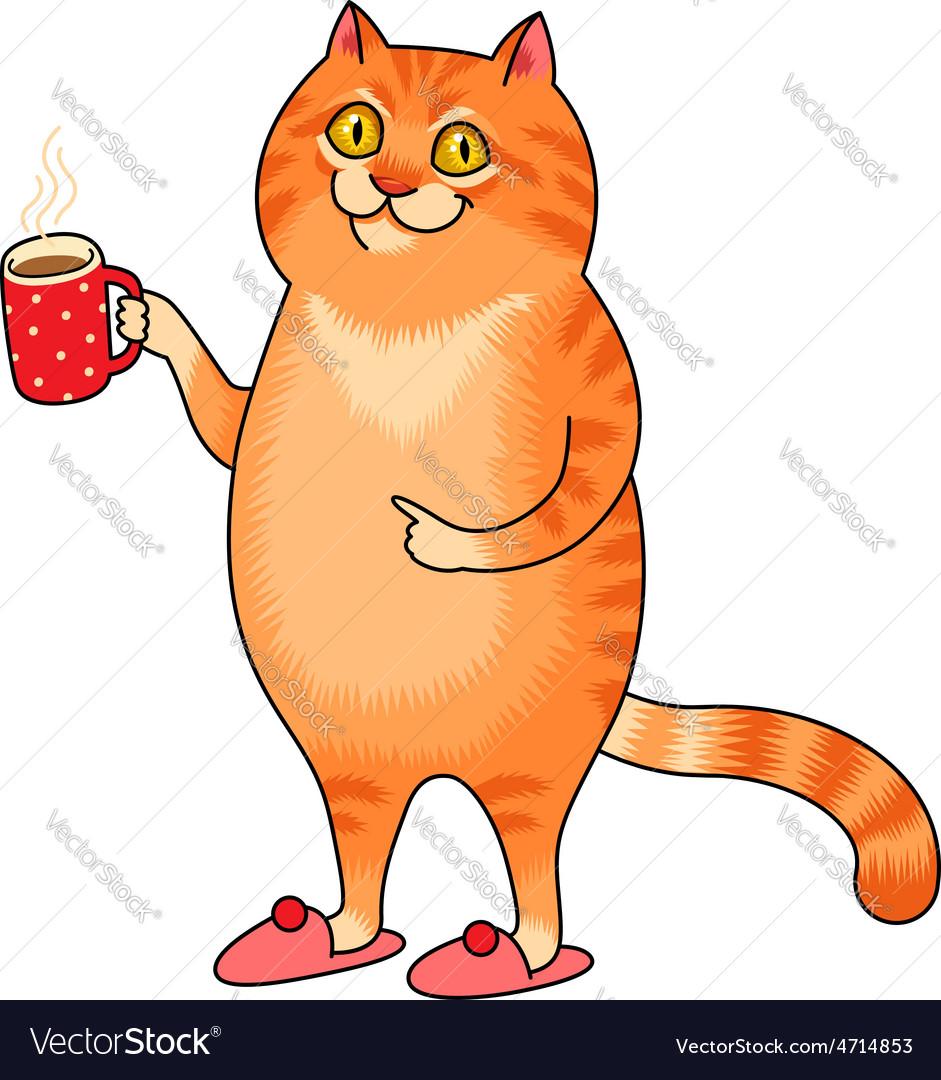 Cat cup vector   Price: 1 Credit (USD $1)