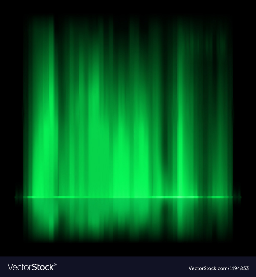 Green aurora borealis background eps 8 vector | Price: 1 Credit (USD $1)