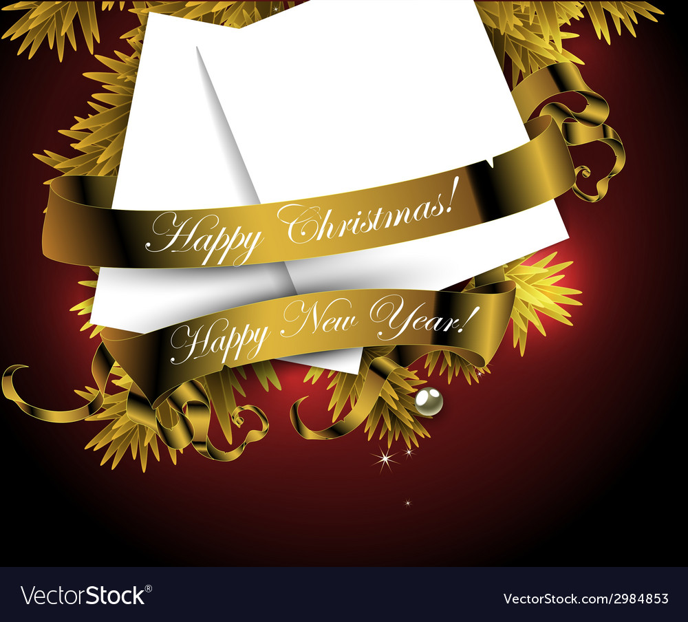 Happy christmas and new year design vector | Price: 1 Credit (USD $1)