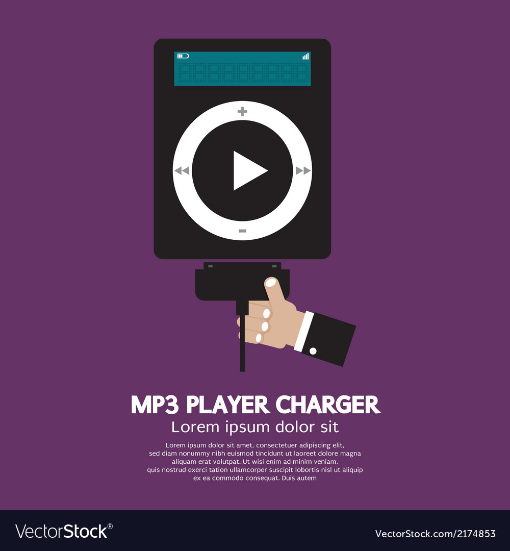 Mp3 player charger vector | Price: 1 Credit (USD $1)