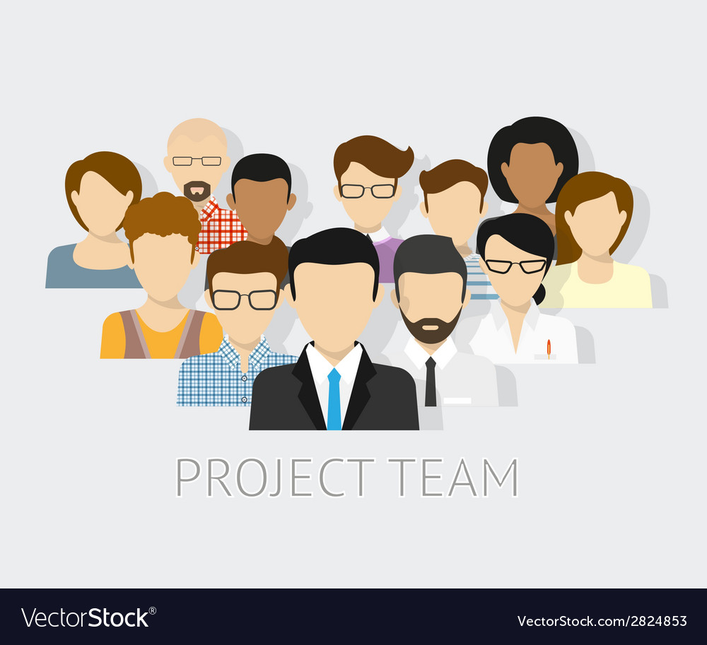 Project team avatars vector | Price: 1 Credit (USD $1)