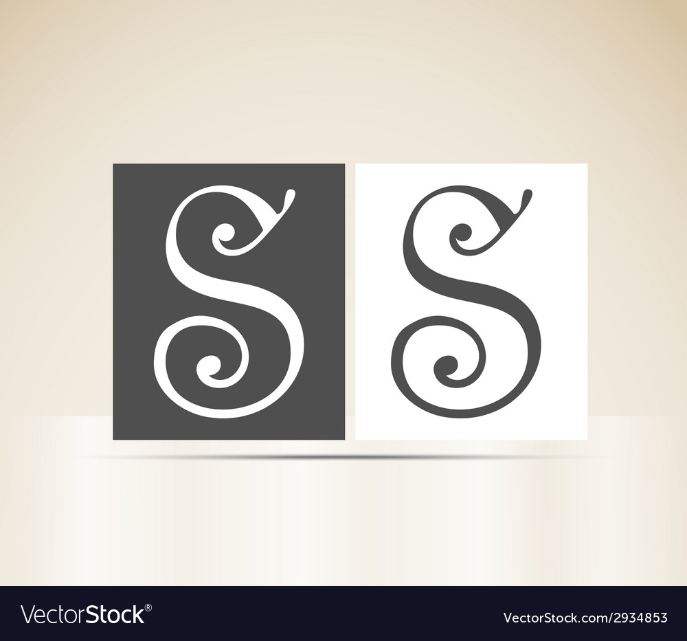 Retro alphabet letter s art deco vintage design vector | Price: 1 Credit (USD $1)
