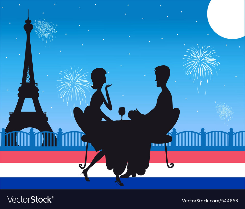 Romantic paris dinner vector | Price: 1 Credit (USD $1)