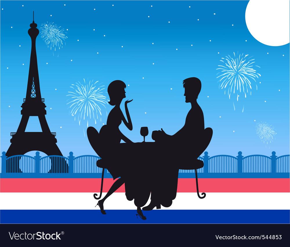 Romantic paris dinner vector | Price: 1 Credit (USD $1)