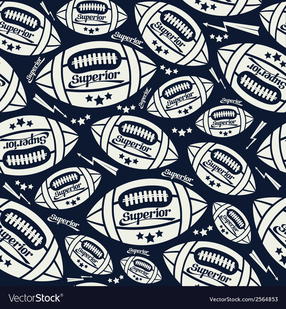 Seamless pattern rugby vector | Price: 1 Credit (USD $1)