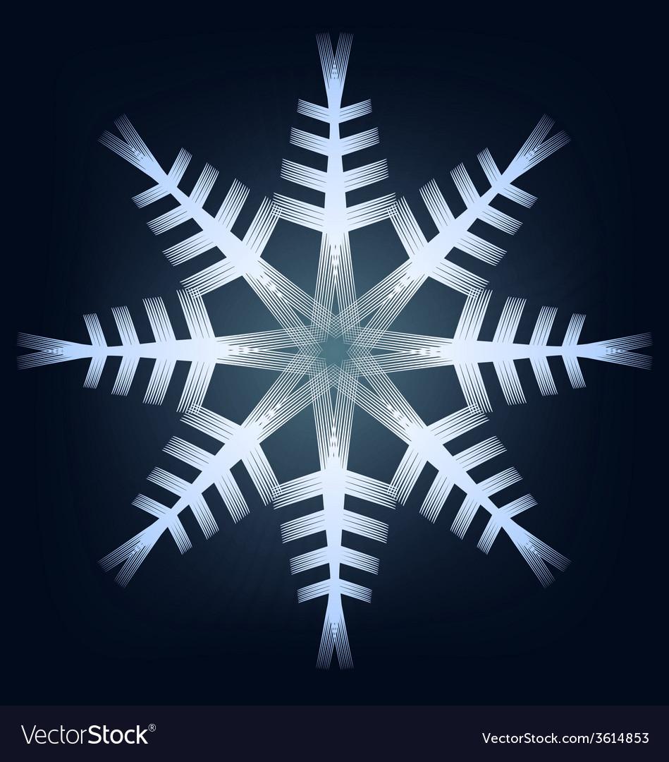 Shining snowflake vector | Price: 1 Credit (USD $1)