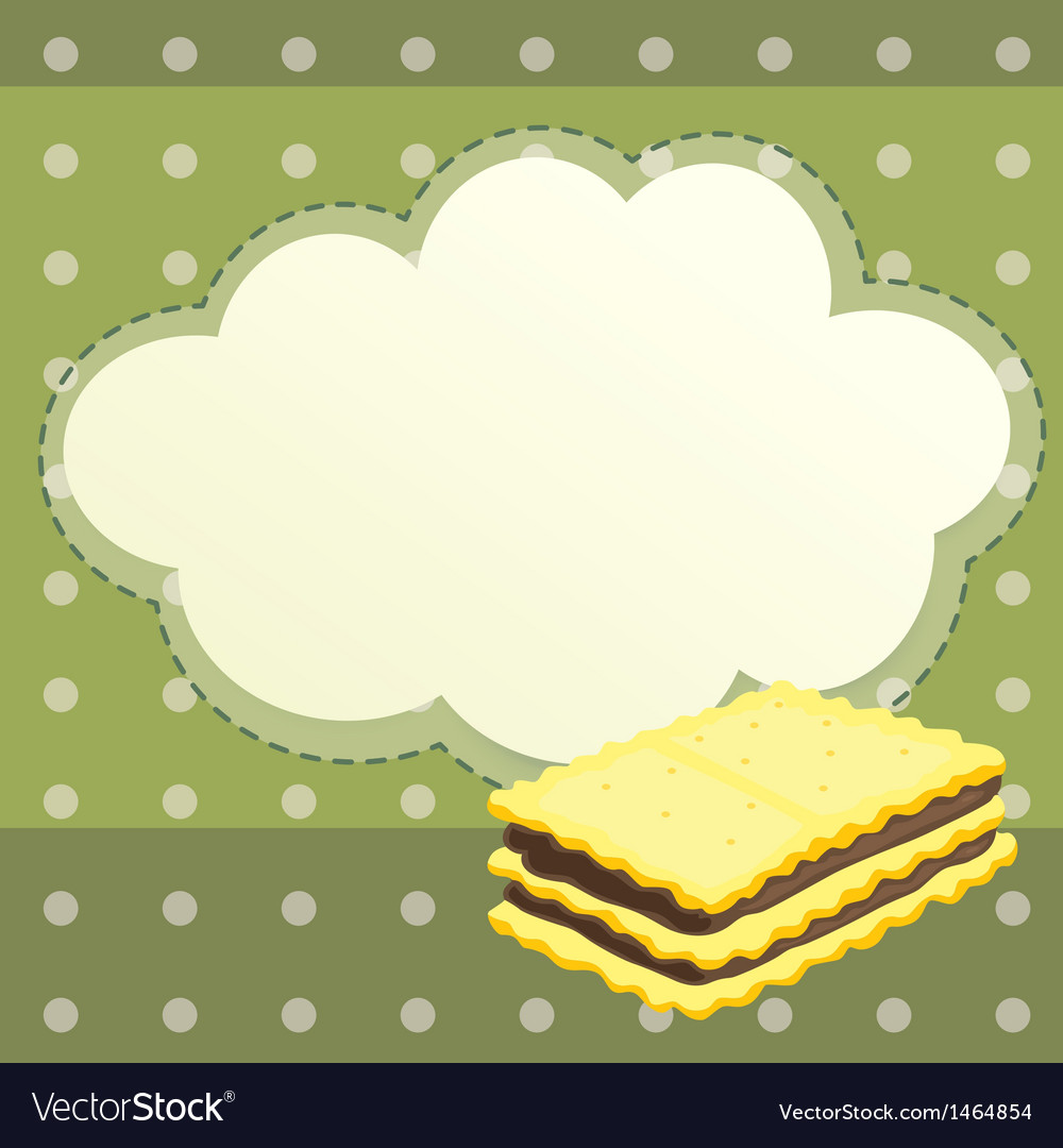 A stationery with a biscuit vector | Price: 1 Credit (USD $1)