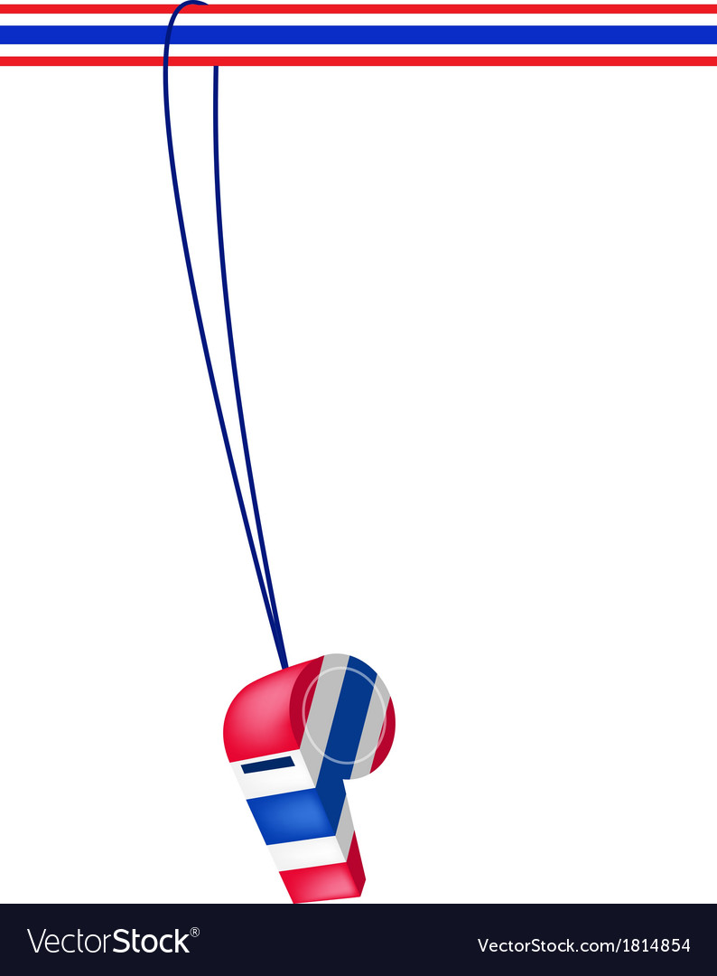 A thai whistle on a stripe ribbon vector | Price: 1 Credit (USD $1)