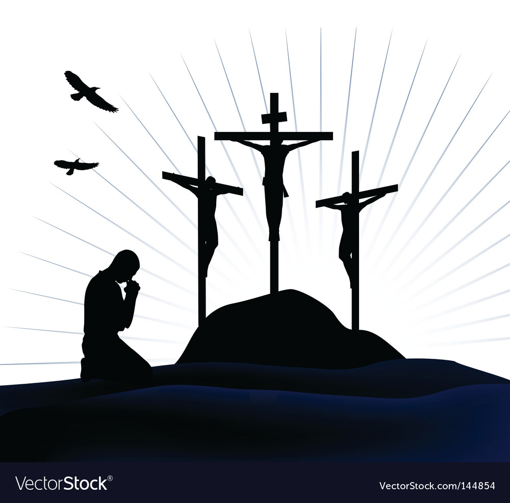 Crucifixion vector | Price: 1 Credit (USD $1)