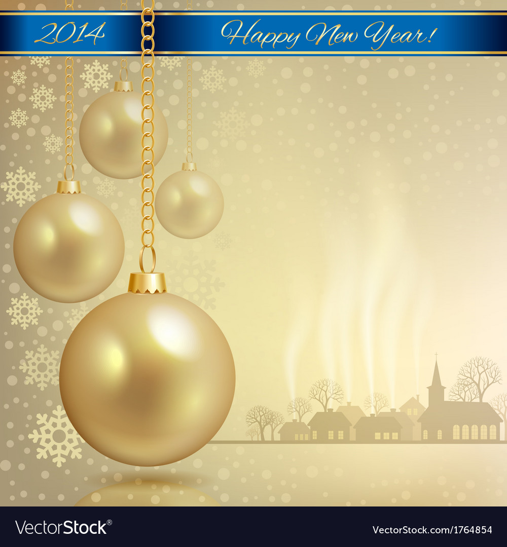 Gold christmas balls vector | Price: 1 Credit (USD $1)