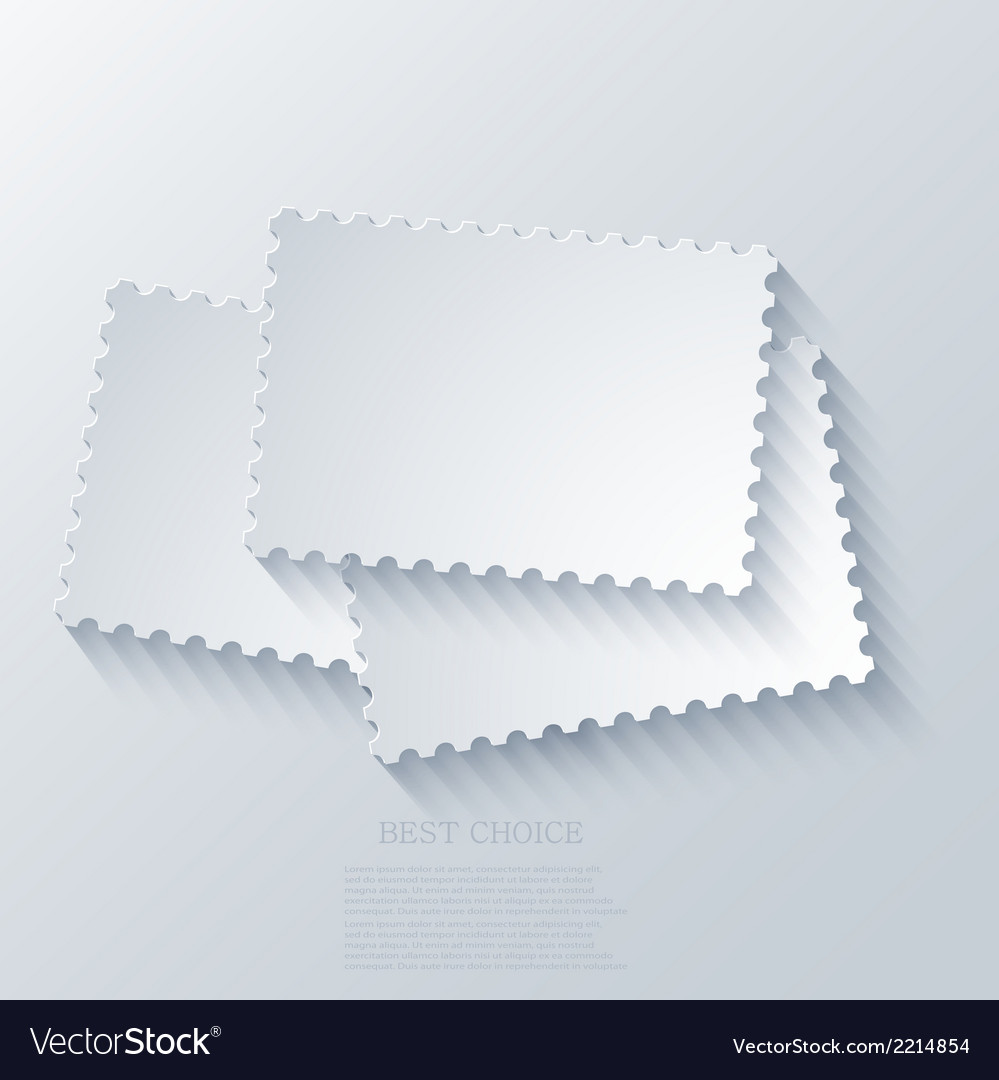 Modern postage background vector | Price: 1 Credit (USD $1)