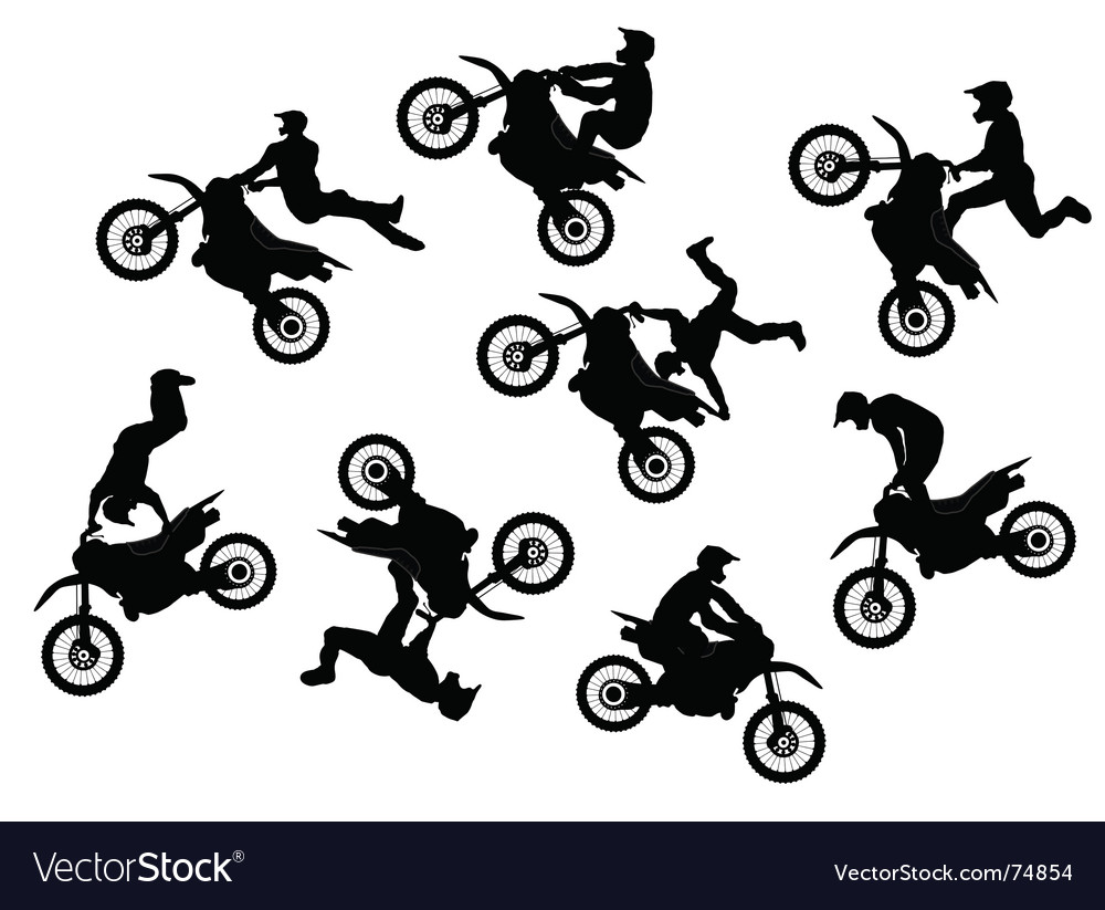 Motocross rider jump vector | Price: 1 Credit (USD $1)