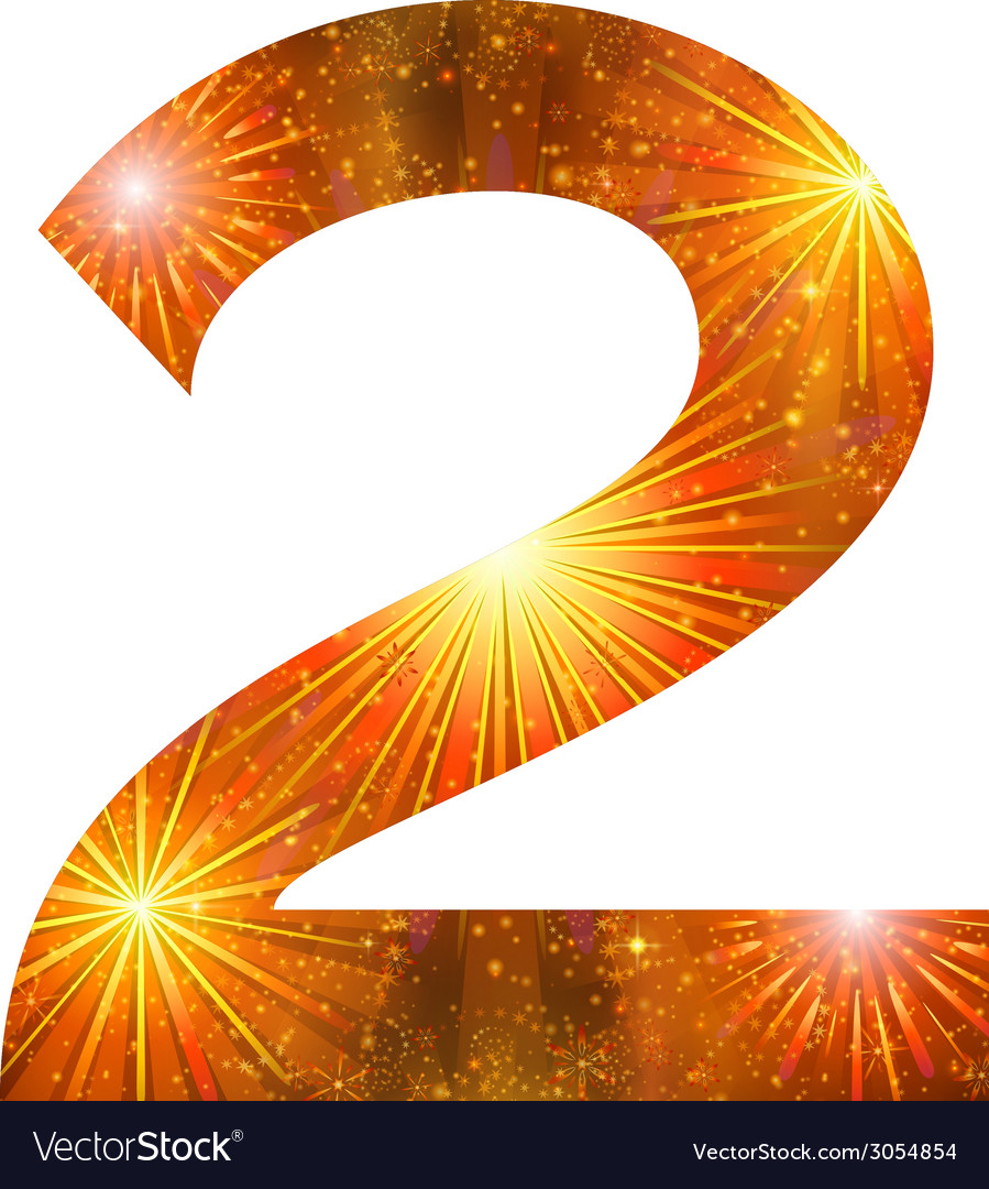 Number of orange firework two vector | Price: 1 Credit (USD $1)