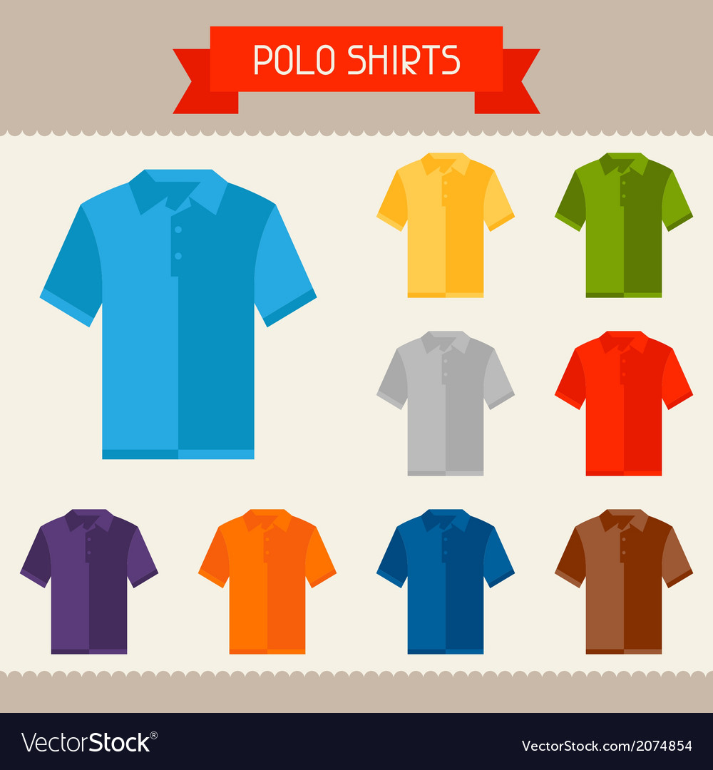 Polo shirts colored templates for your design in vector | Price: 1 Credit (USD $1)