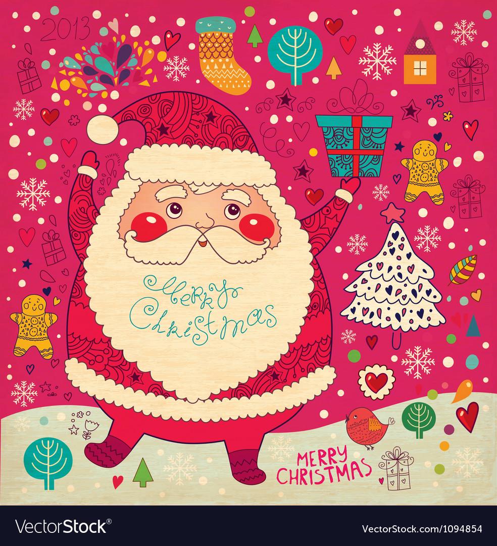 Scrapbook arty santa claus vector | Price: 1 Credit (USD $1)