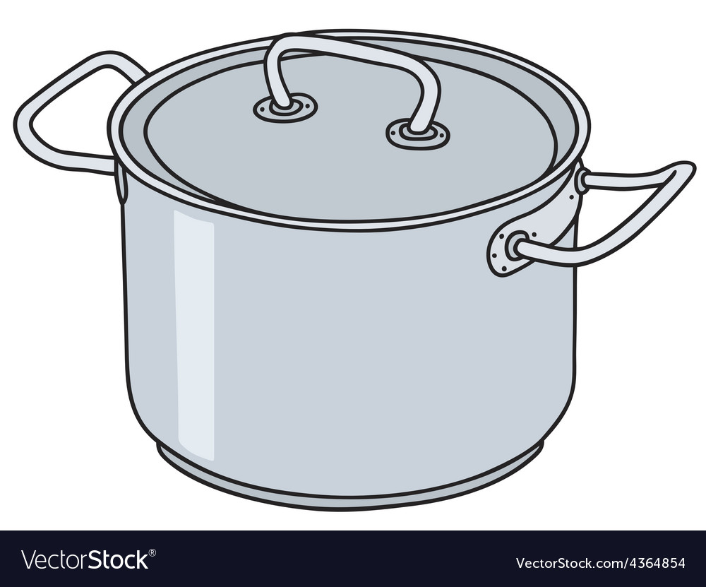 Stainless steel pot vector | Price: 1 Credit (USD $1)