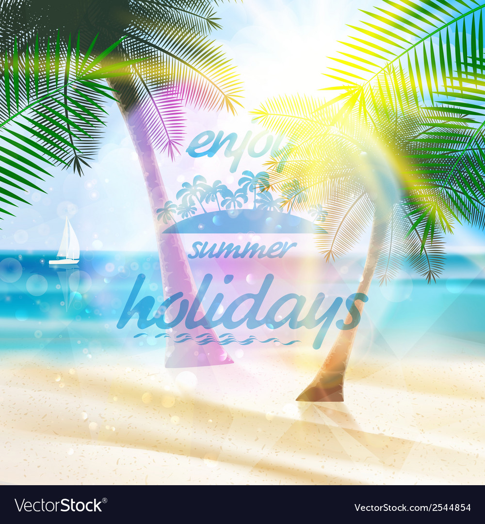 Summer typography holidays template vector   Price: 1 Credit (USD $1)