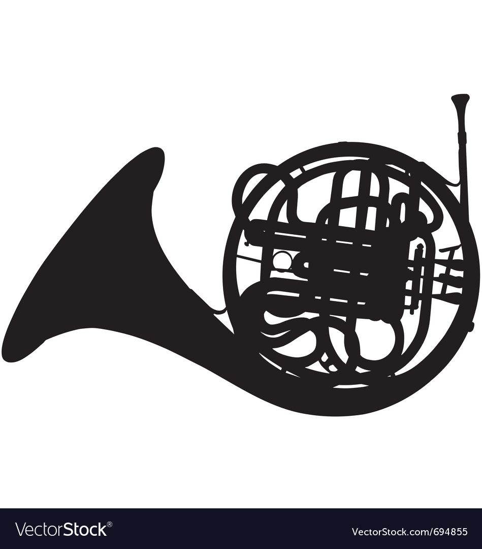 Fench horn silhouette vector | Price: 1 Credit (USD $1)