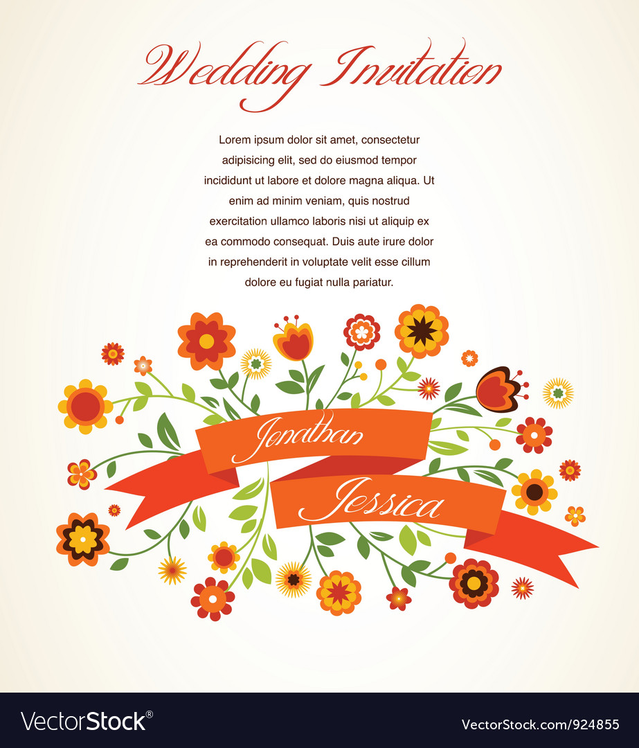 Greeting card invitation vector | Price: 1 Credit (USD $1)
