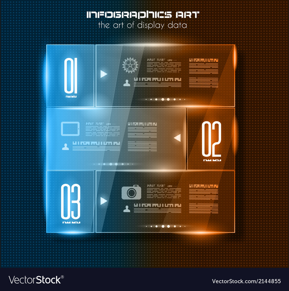 Infographic design template with glass surfaces vector | Price: 1 Credit (USD $1)