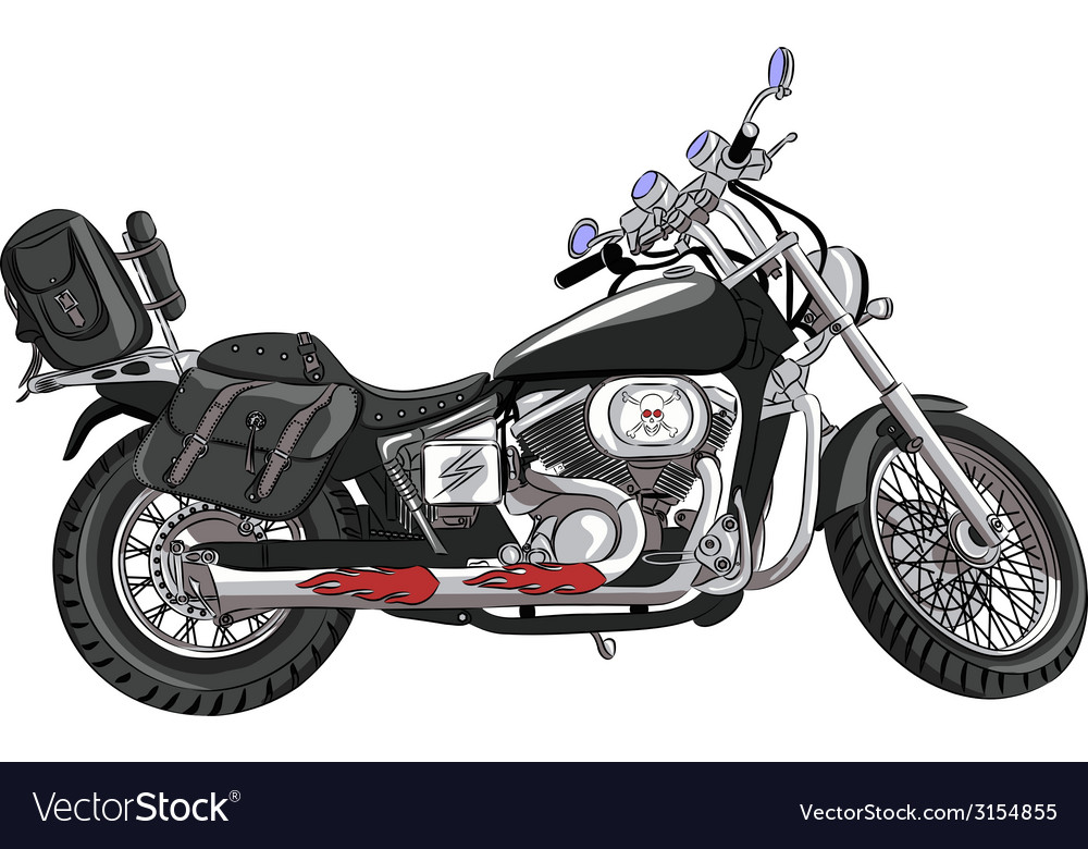 Motorcycle a vector | Price: 1 Credit (USD $1)