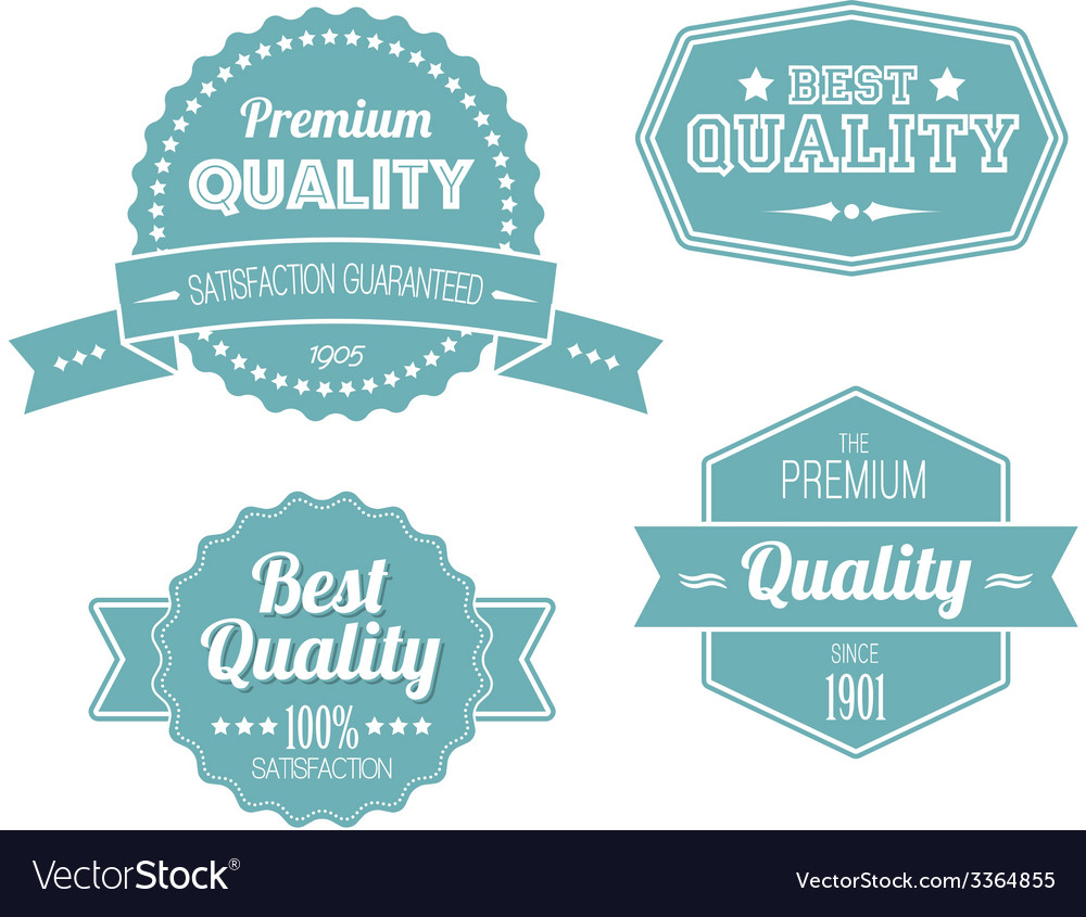 Old blue retro vintage labels vector | Price: 1 Credit (USD $1)