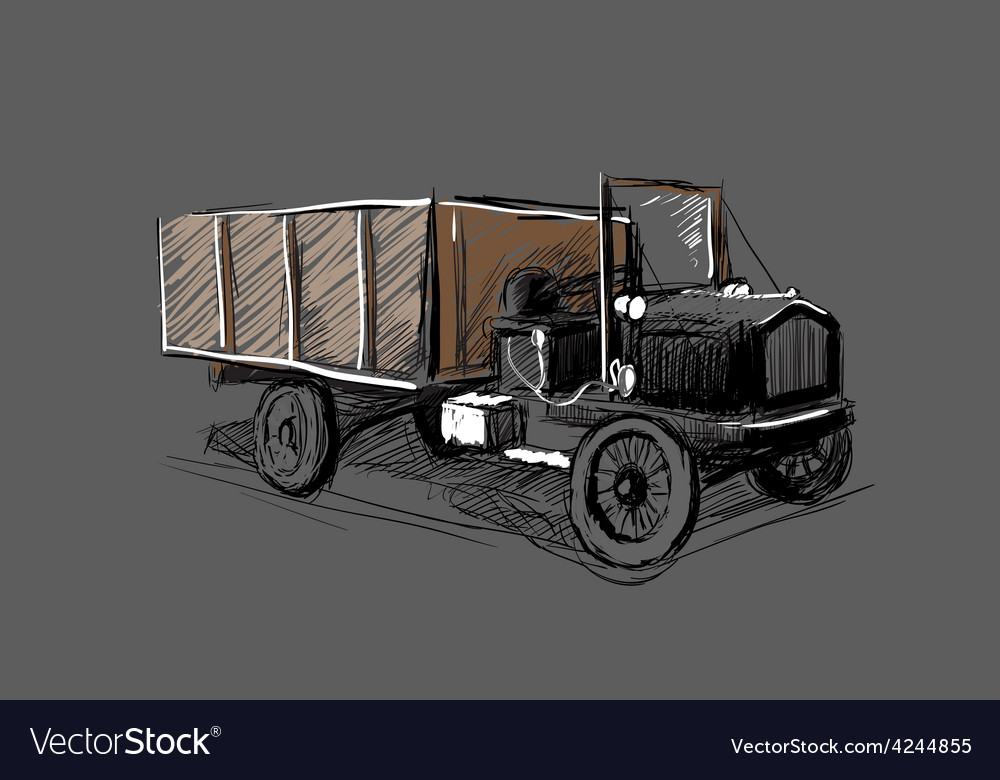 Retro automobile vector | Price: 3 Credit (USD $3)