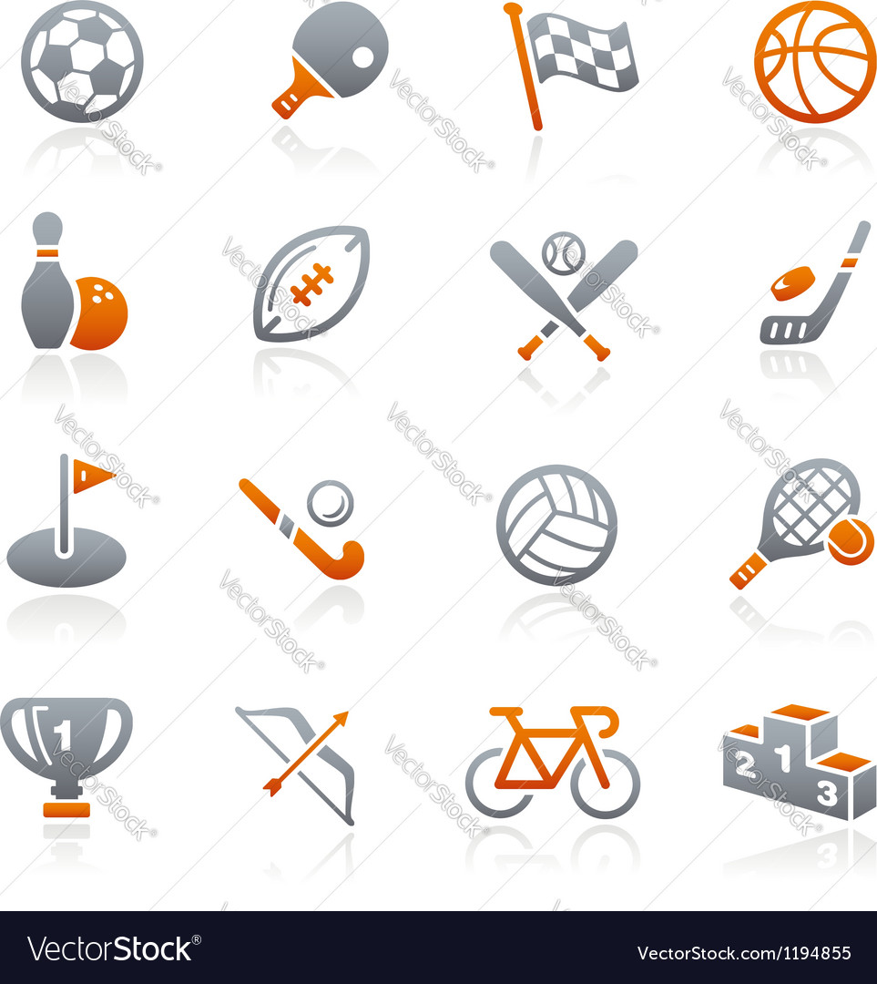 Sports icons graphite series vector | Price: 1 Credit (USD $1)