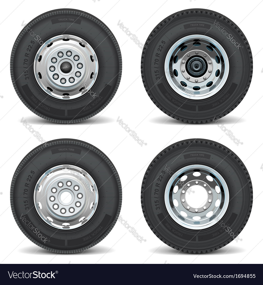Truck tire icons vector | Price: 1 Credit (USD $1)
