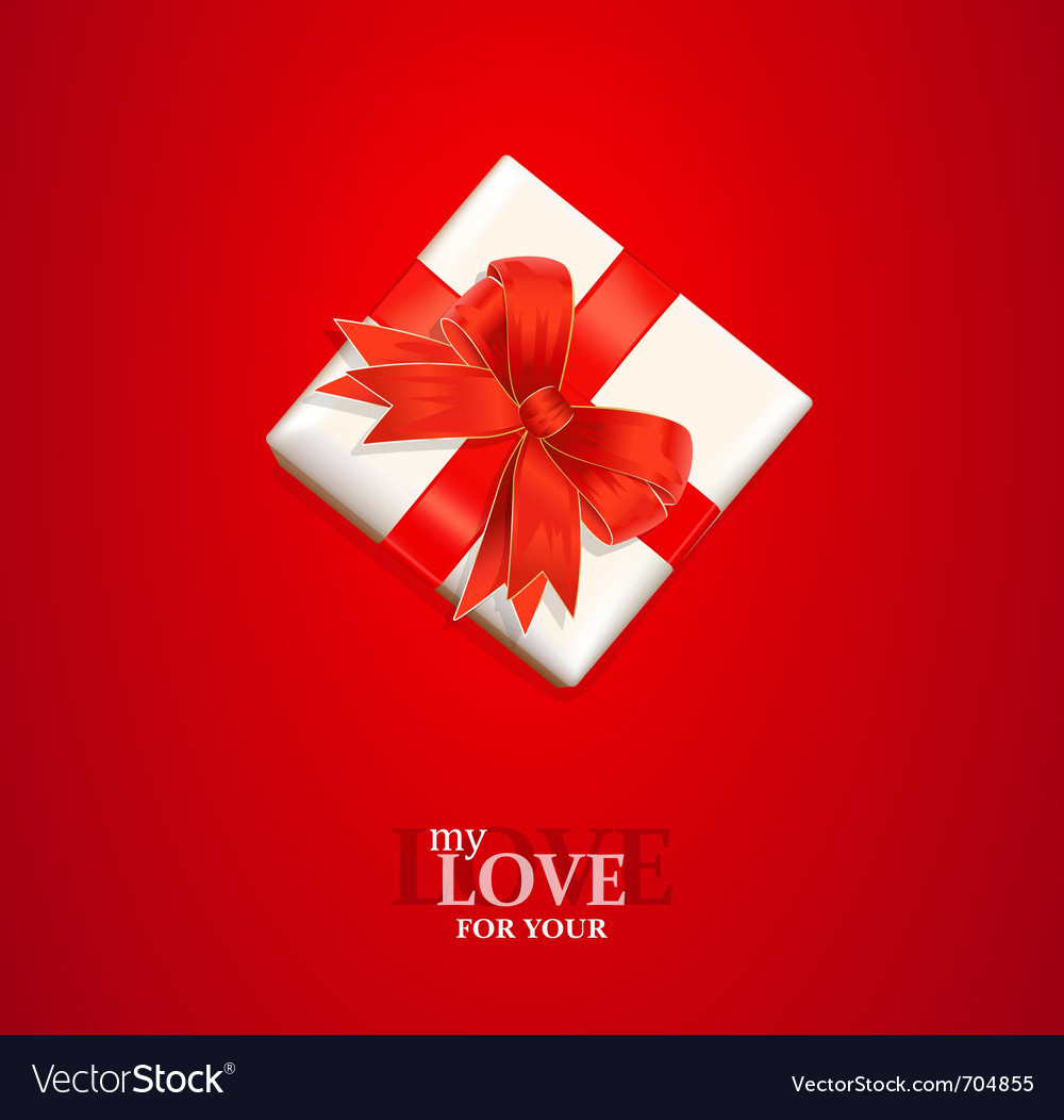 Valentines gift background vector | Price: 1 Credit (USD $1)