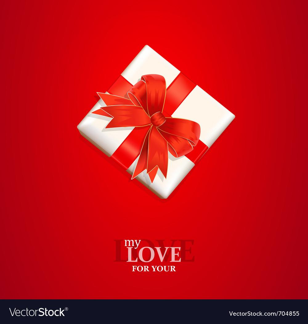 Valentines gift background vector | Price: 1 Credit (USD $1)