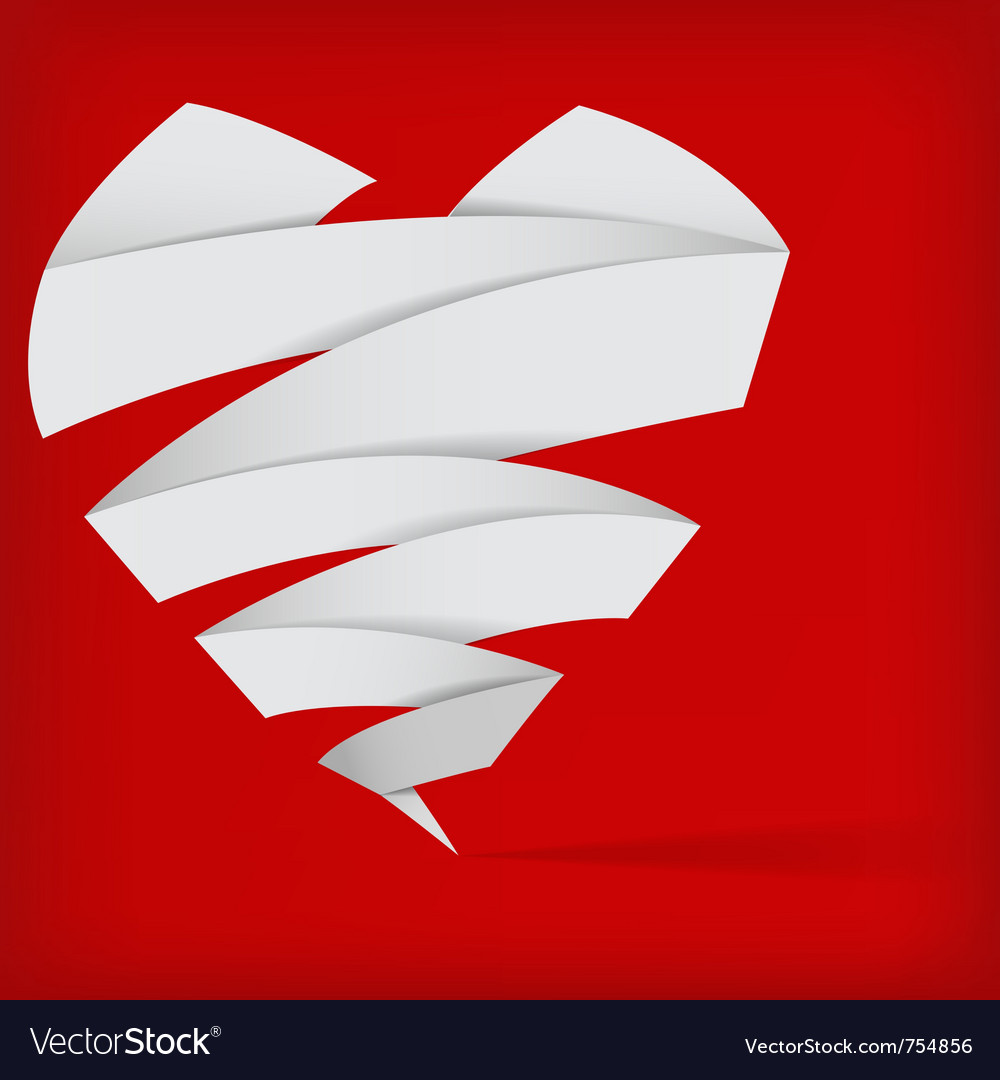 Abstract origami heart vector | Price: 1 Credit (USD $1)
