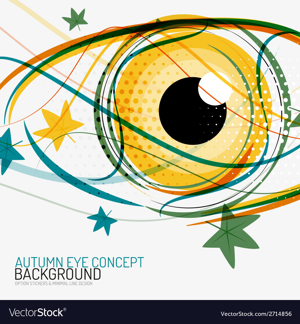 Autumn and human eye concept vector | Price: 1 Credit (USD $1)