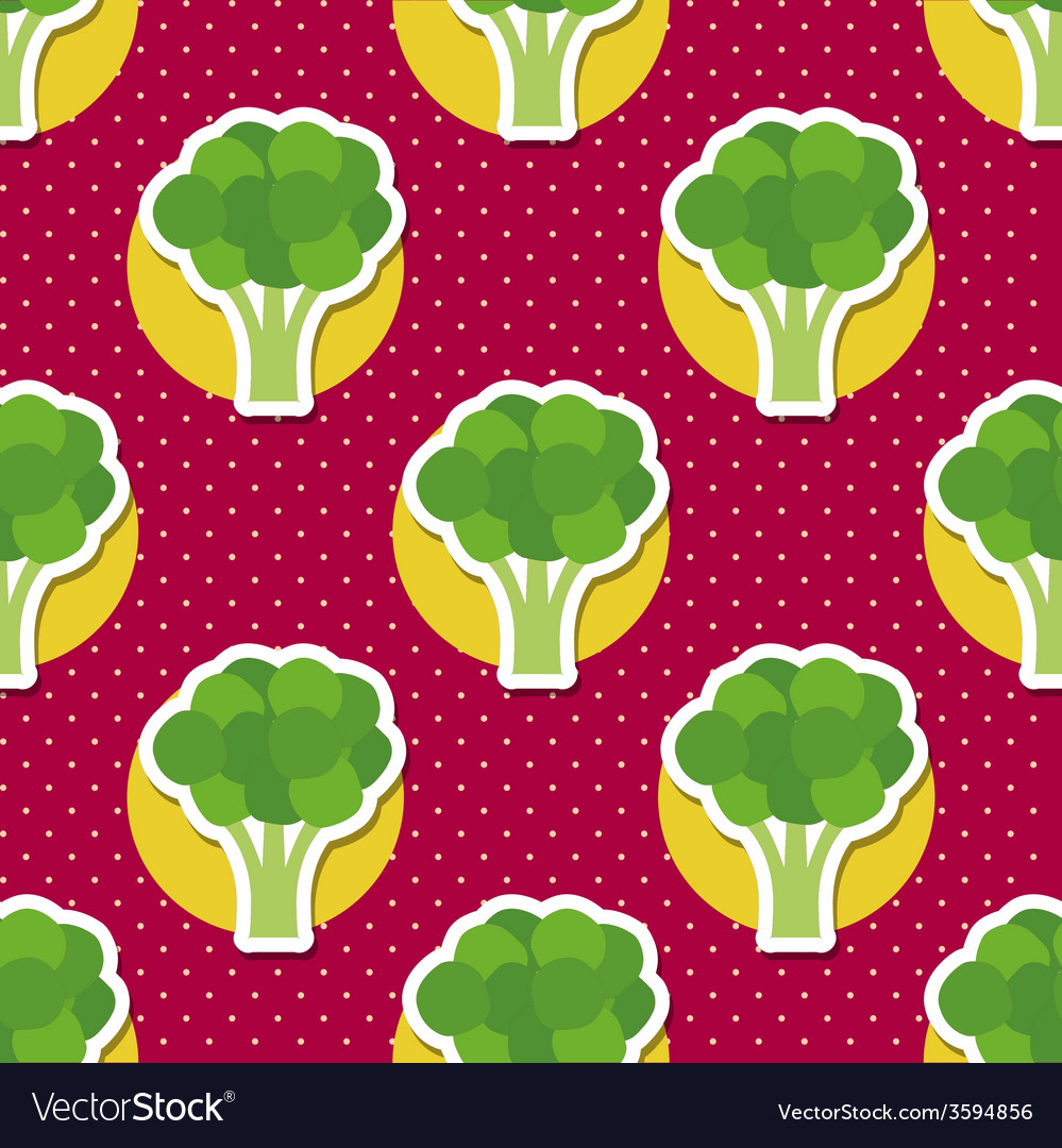 Broccoli pattern seamless texture vector | Price: 1 Credit (USD $1)