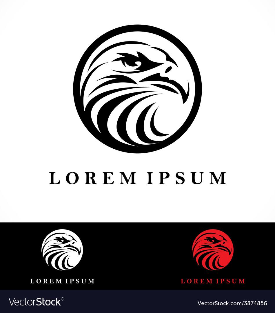 Eagle head logo design vector | Price: 1 Credit (USD $1)