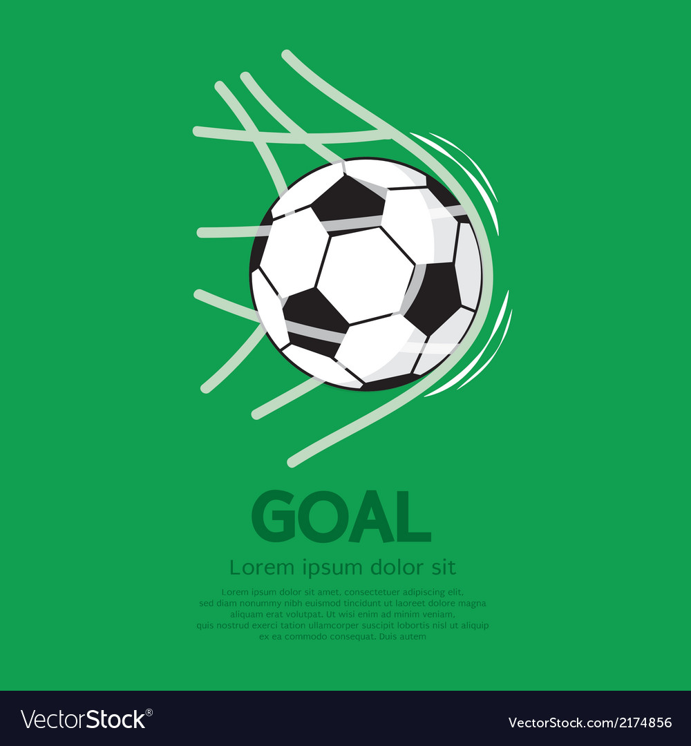 Football or soccer ball in net vector | Price: 1 Credit (USD $1)