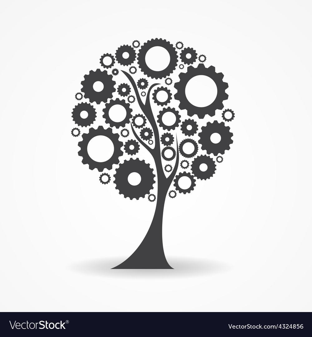 Gear icon tree sign vector   Price: 1 Credit (USD $1)