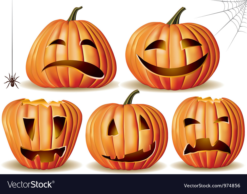Halloween pumpkin set vector | Price: 3 Credit (USD $3)