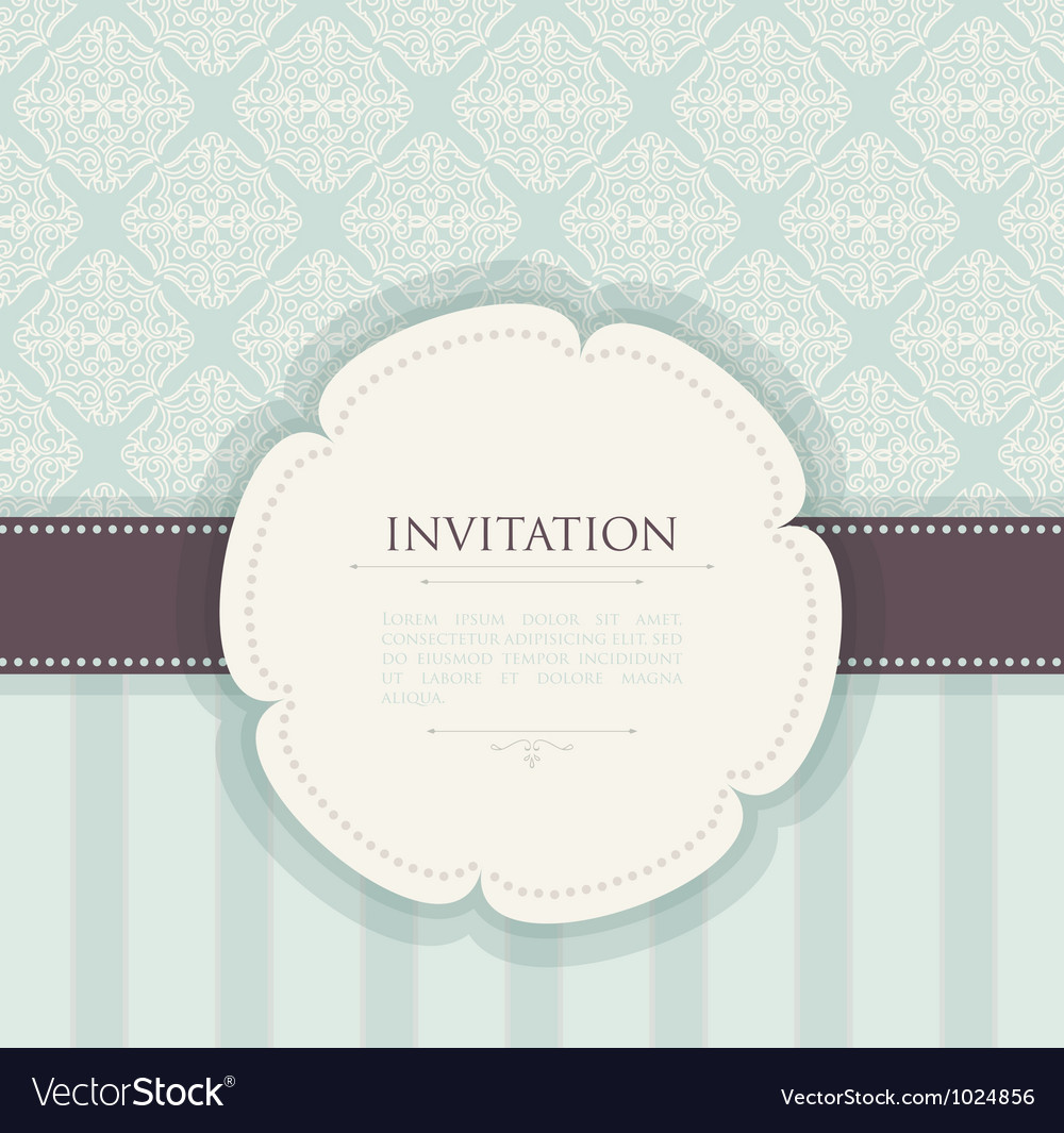 Invitation back vector