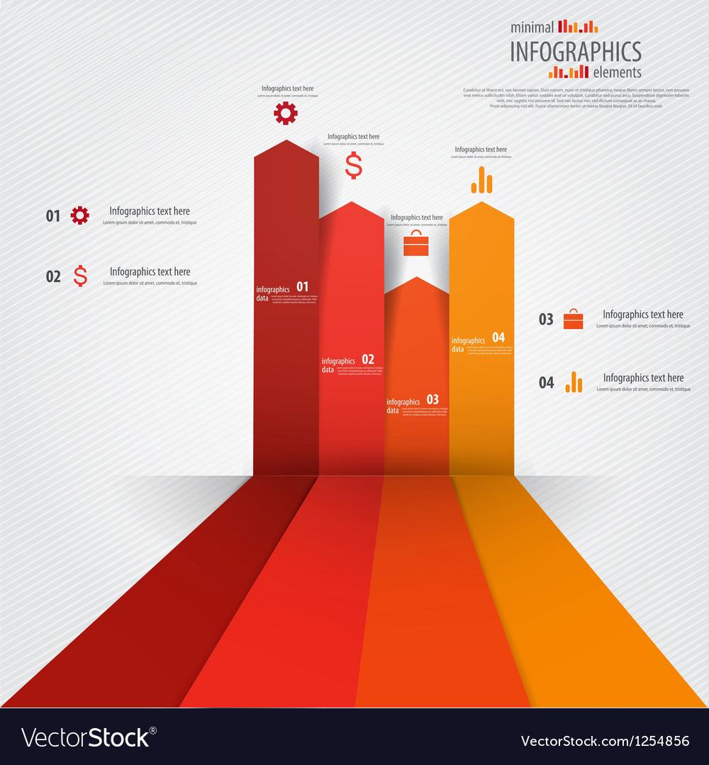 Minimal infographics design elements vector | Price: 1 Credit (USD $1)
