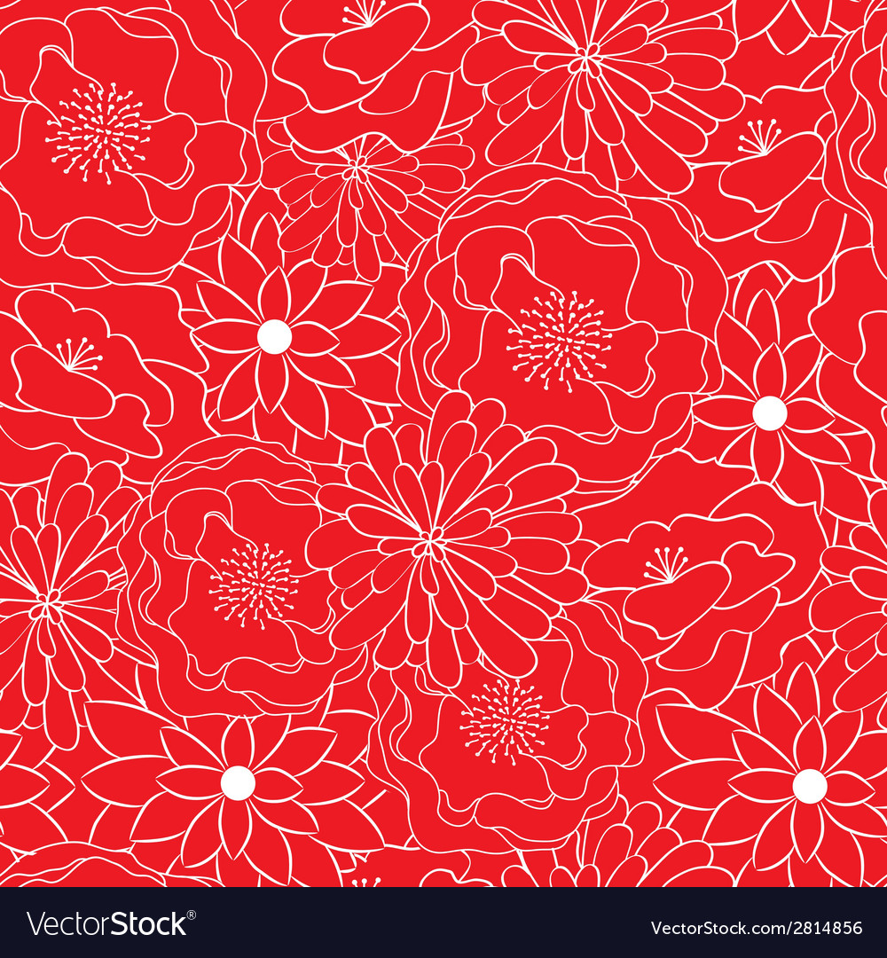 Red floral seamless pattern vector | Price: 1 Credit (USD $1)