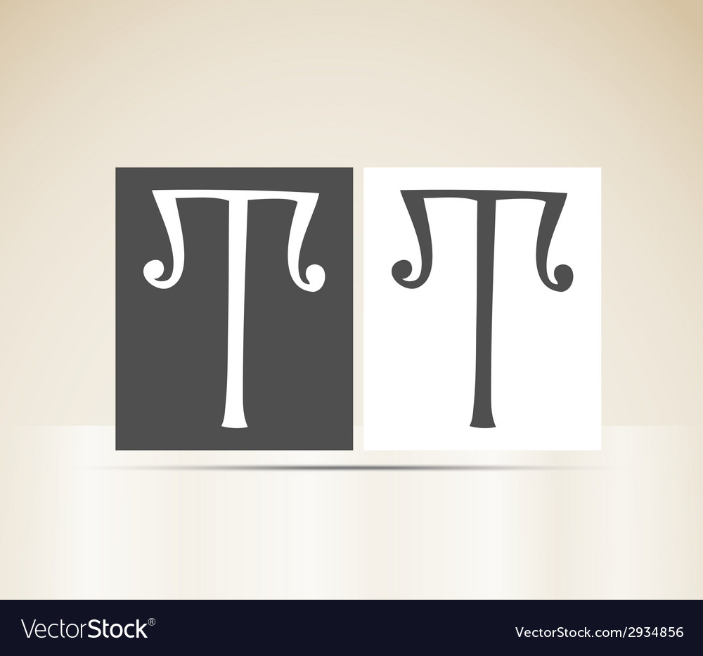Retro alphabet letter t art deco vintage design vector | Price: 1 Credit (USD $1)