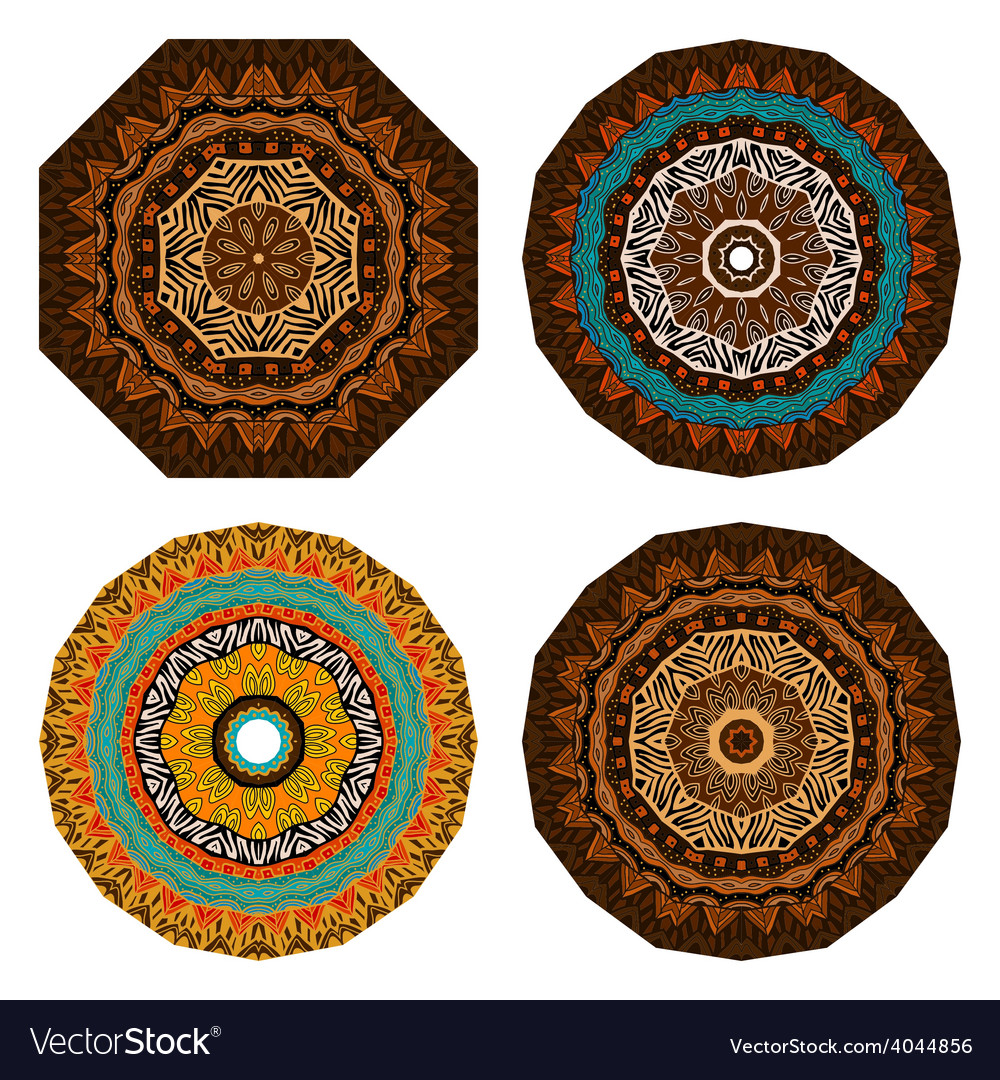 Set of doodles ethnic design elements vector | Price: 1 Credit (USD $1)