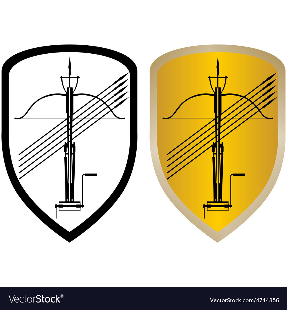 Shield crossbow and arrows vector   Price: 1 Credit (USD $1)