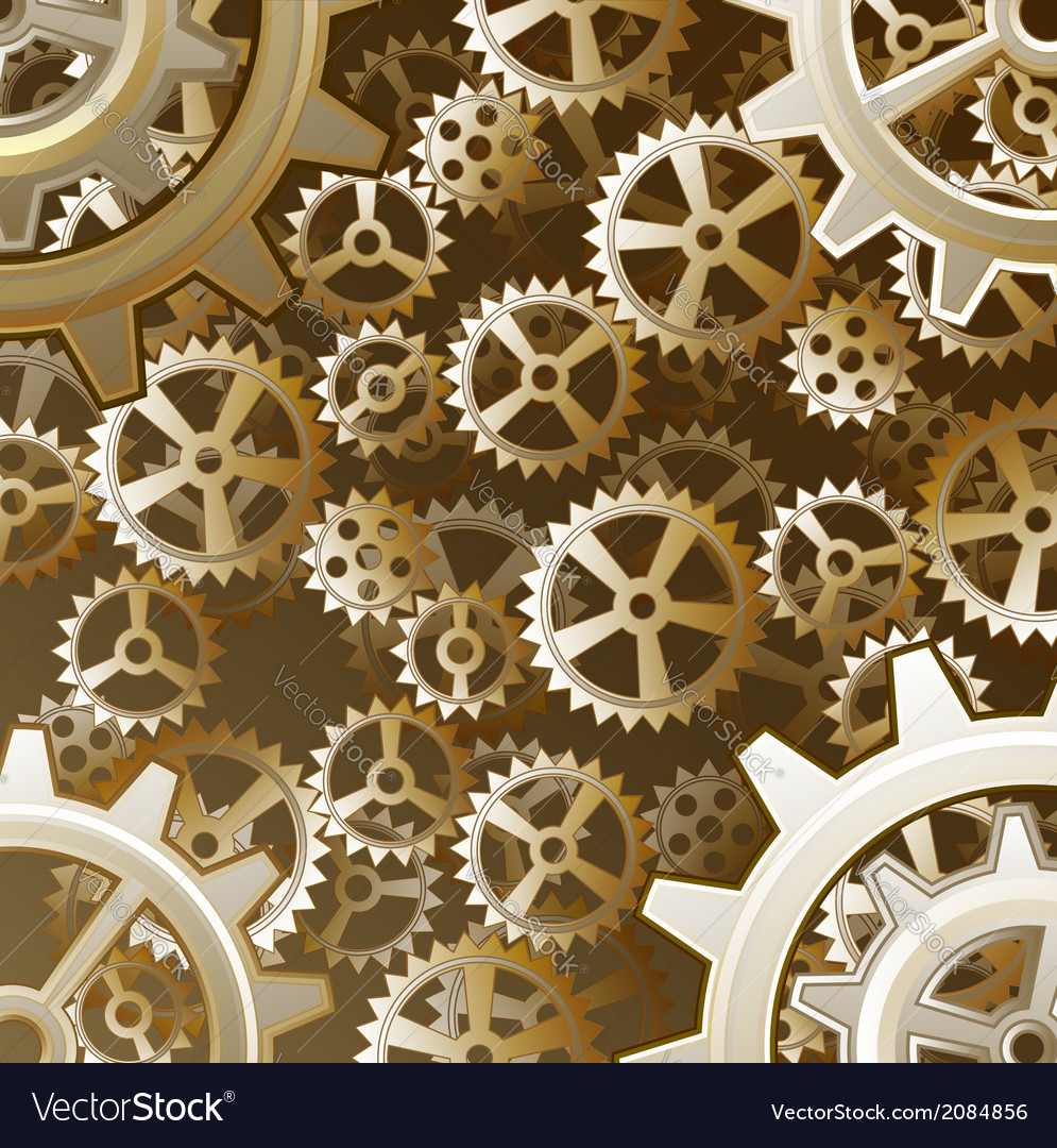 Steampunk gears background vector | Price: 1 Credit (USD $1)