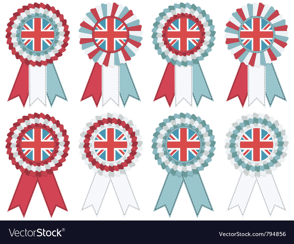 Uk rosettes vector | Price: 1 Credit (USD $1)