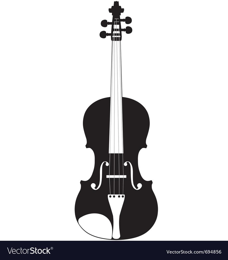 Violin silhouette vector | Price: 1 Credit (USD $1)
