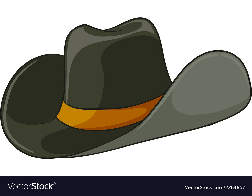 A grey hat vector | Price: 1 Credit (USD $1)