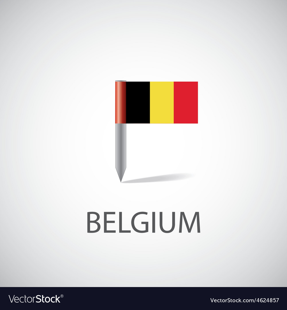 Belgium flag pin vector | Price: 1 Credit (USD $1)