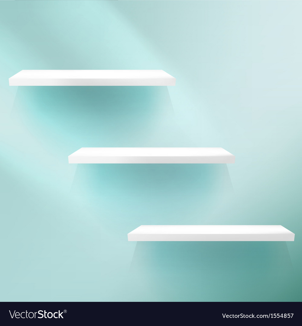 Detailed of shelves on blue vector   Price: 1 Credit (USD $1)